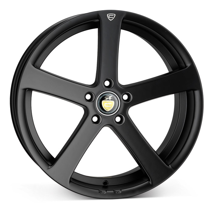 "NEW 19"" CADES APOLLO ALLOY WHEELS IN MATT BLACK WITH DEEPER 9.5"" REAR et40/45"