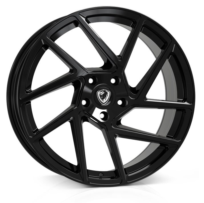 "NEW 20"" CADES ATHENA ALLOY WHEELS IN JET BLACK DIRECT 65.1CB"