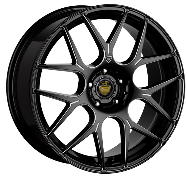 "NEW 18"" CADES BERN ACCENT BLACK POLISHED ALLOY WHEELS CROSS SPOKE WIDER REAR"