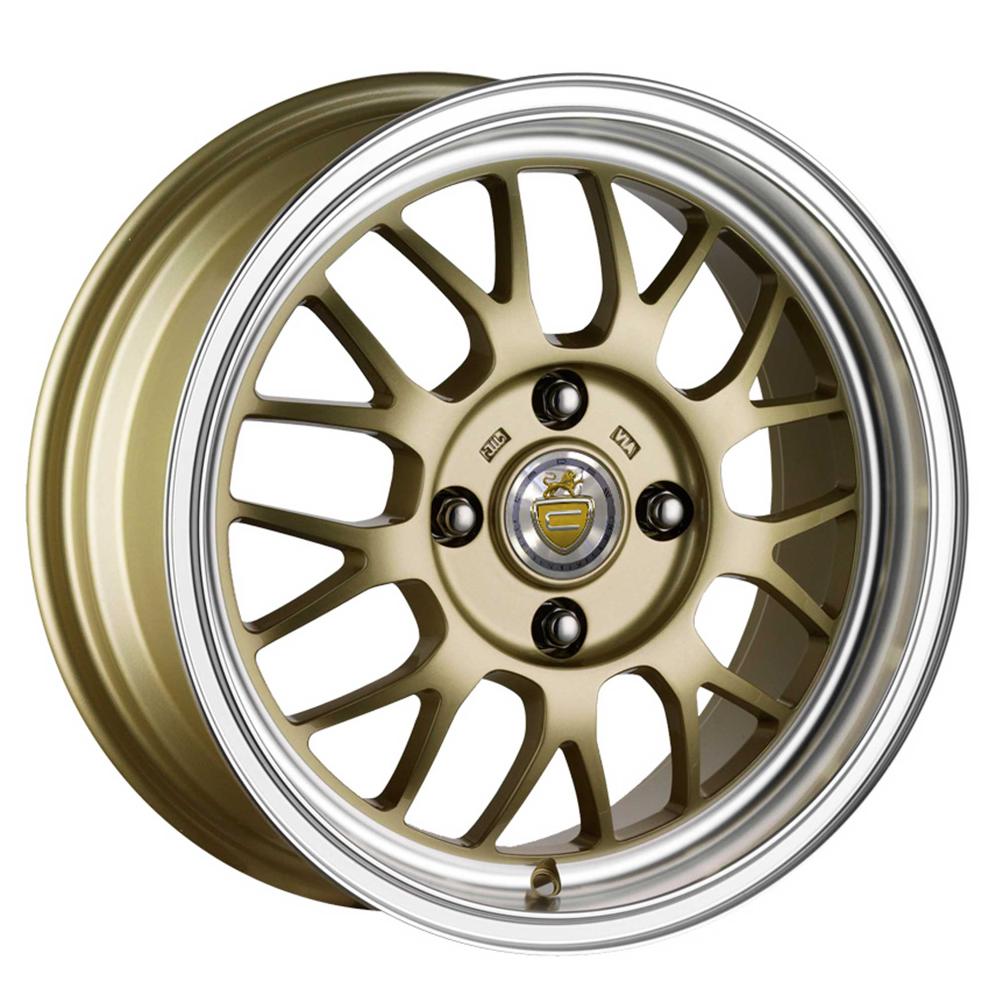 "NEW 15"" CADES EROS ALLOYS IN GOLD WITH POLISHED DISH"