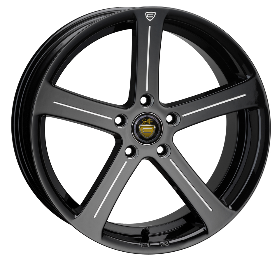 "NEW 19"" CADES APOLLO BLACK ACCENT ALLOYS, DEEP CONCAVE 9.5"" REARS"