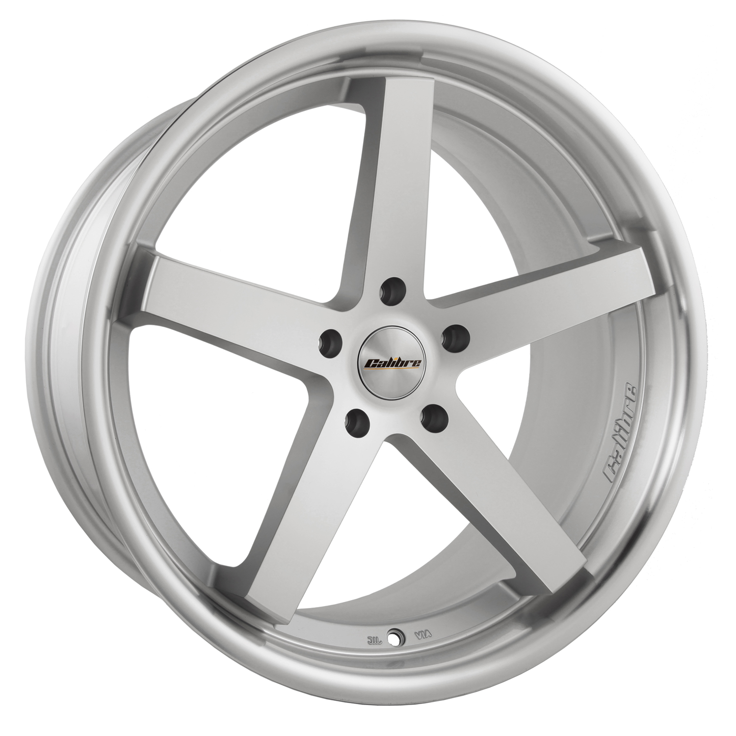 "NEW 20"" CALIBRE CC-V ALLOYS IN MATT SILVER WITH POLISHED LIP, BIG CONCAVE 10"" REAR, et35/et35"