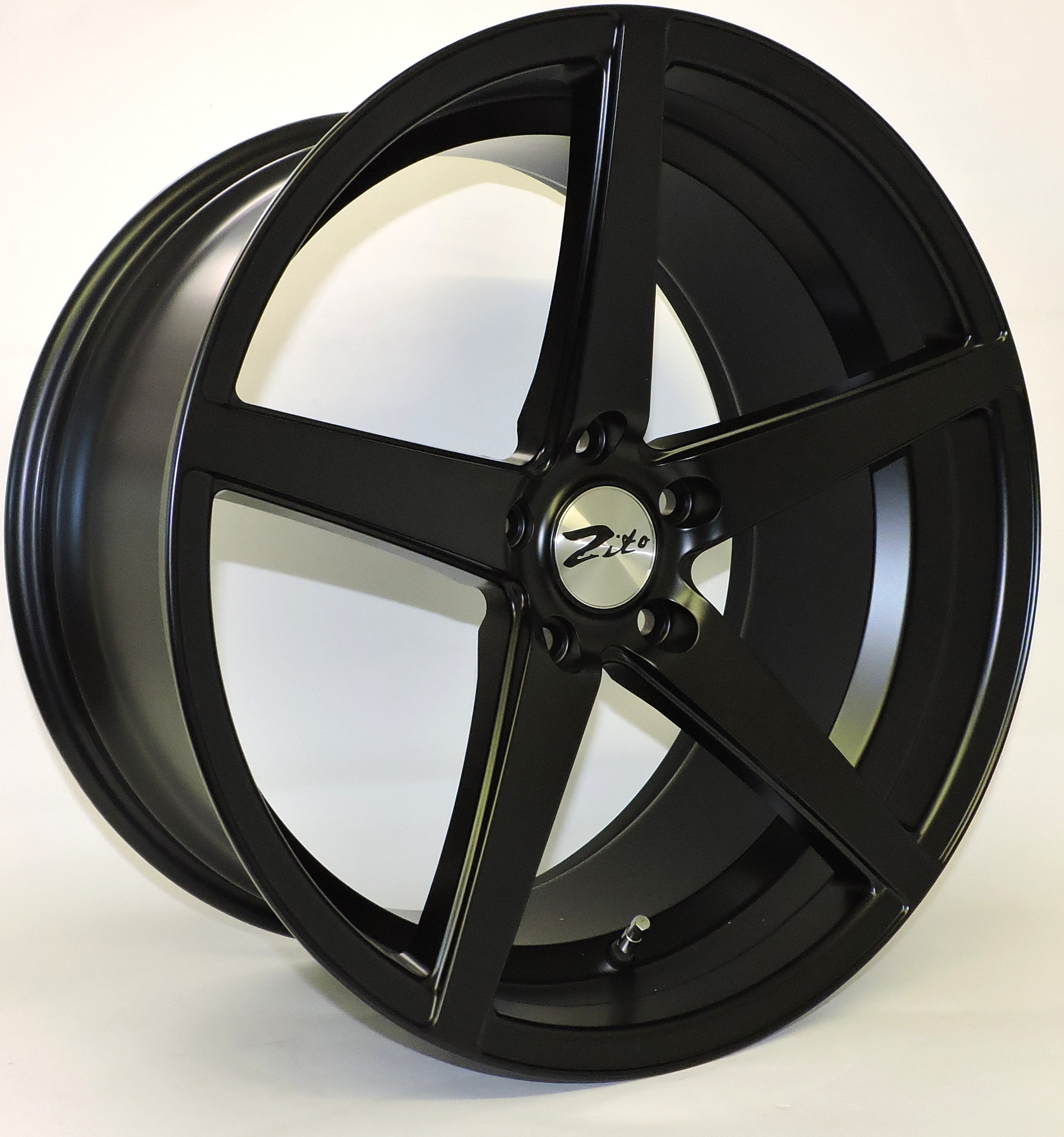 "NEW 19"" ZITO CORSICA ALLOY WHEELS IN SATIN BLACK, BIG CONCAVE 10"" REAR"