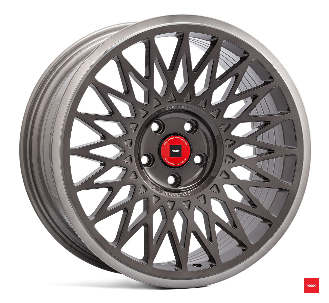 "NEW 18"" ISPIRI CSR-FF4 ALLOY WHEELS IN CARBON GREY BRUSHED WITH WIDER 9.5"" REARS et45/45"