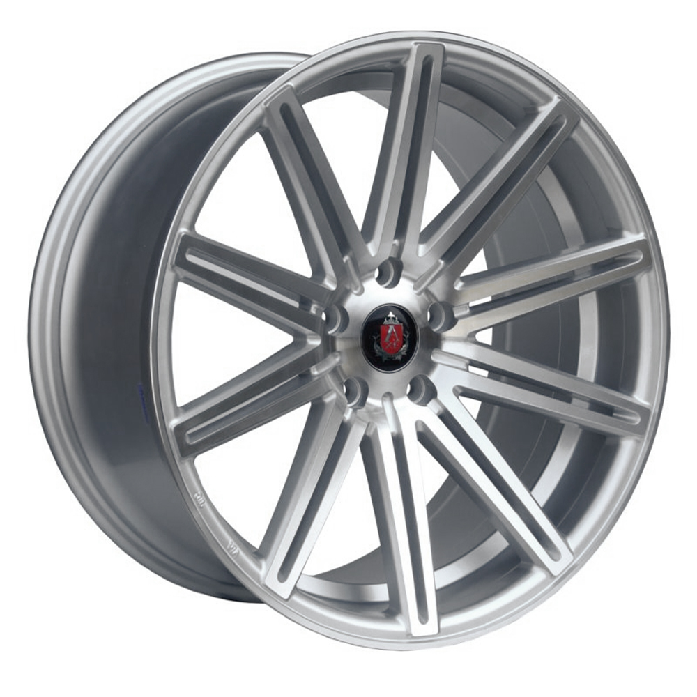 "NEW 19"" AXE EX15 DEEP CONCAVE ALLOYS IN SILVER/POLISH WITH DEEP DISH, WIDER 9.5"" REAR et45/40"
