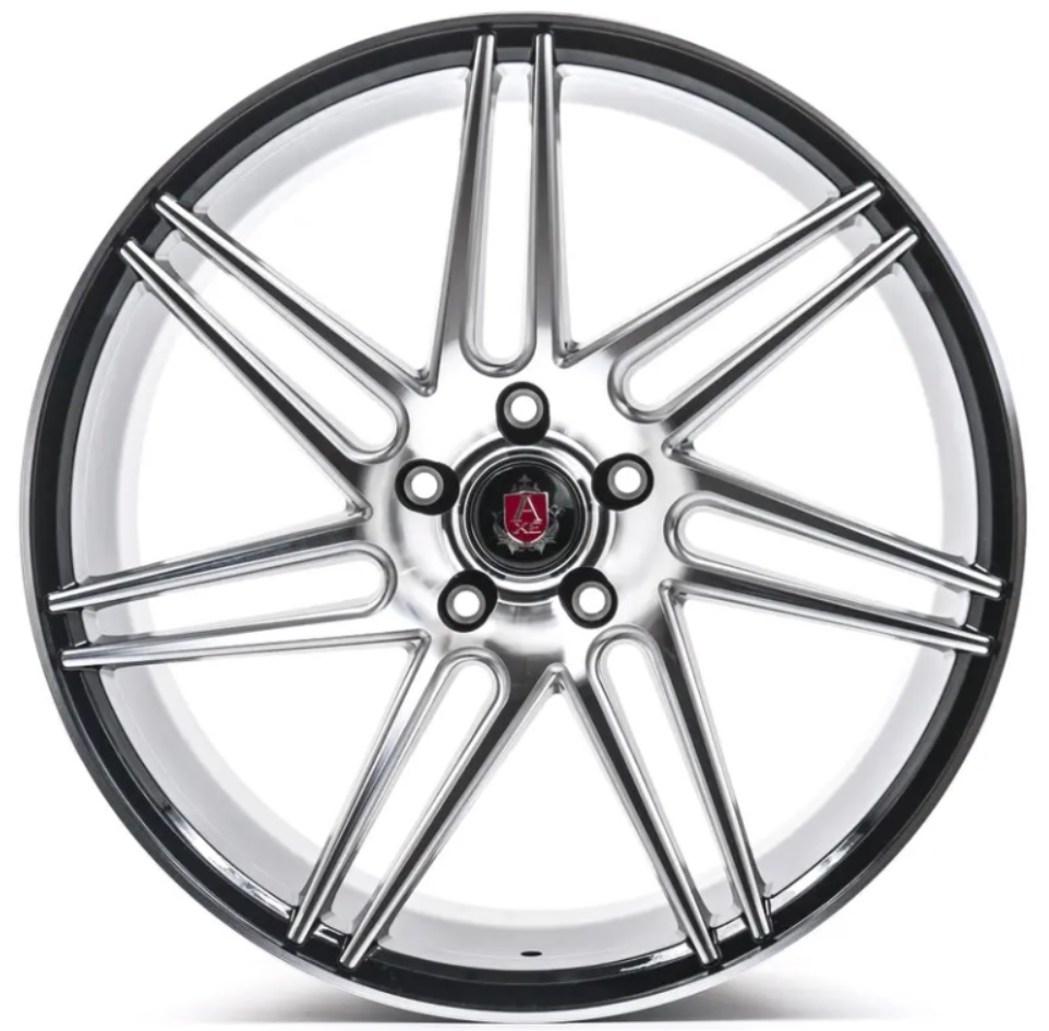 "NEW 20"" AXE EX31 ALLOY WHEELS IN GLOSS BLACK WITH POLISHED FACE, DEEP CONCAVE, WIDER 10.5"" REAR 5x112"