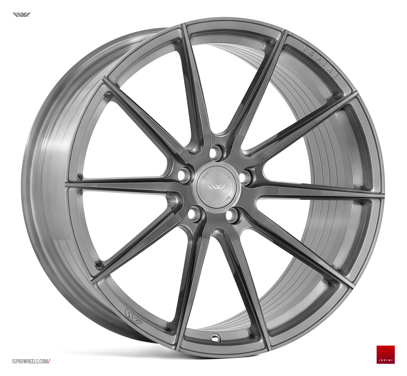 "NEW 20"" ISPIRI FFR1 MULTI-SPOKE ALLOY WHEELS IN BRUSHED CARBON TITANIUM, DEEPER CONCAVE 10.5"" ALL ROUND"