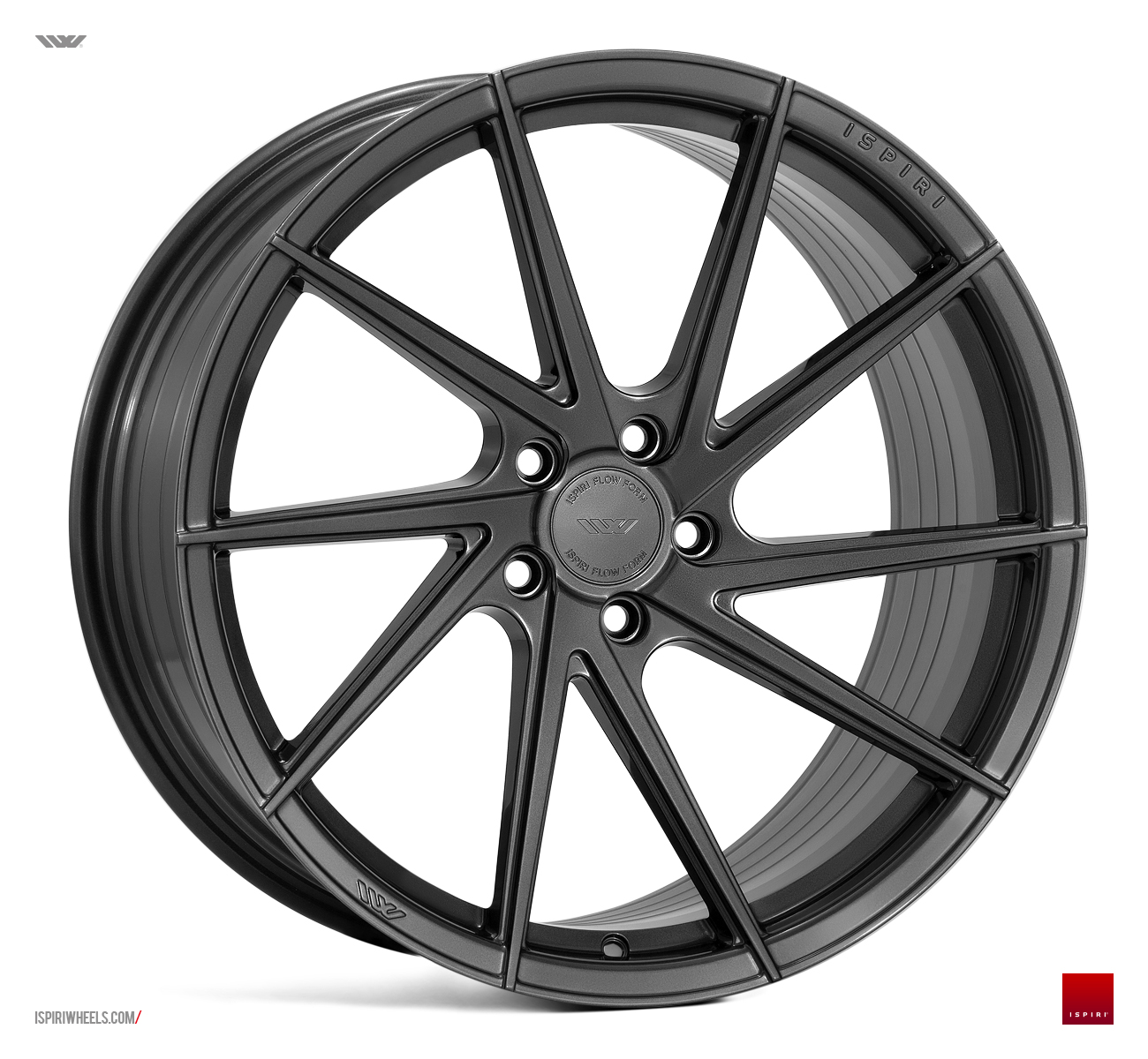 "NEW 20"" ISPIRI FFR1D MULTI-SPOKE DIRECTIONAL ALLOYS IN CARBON GRAPHITE, DEEPER CONCAVE 10"" REAR"