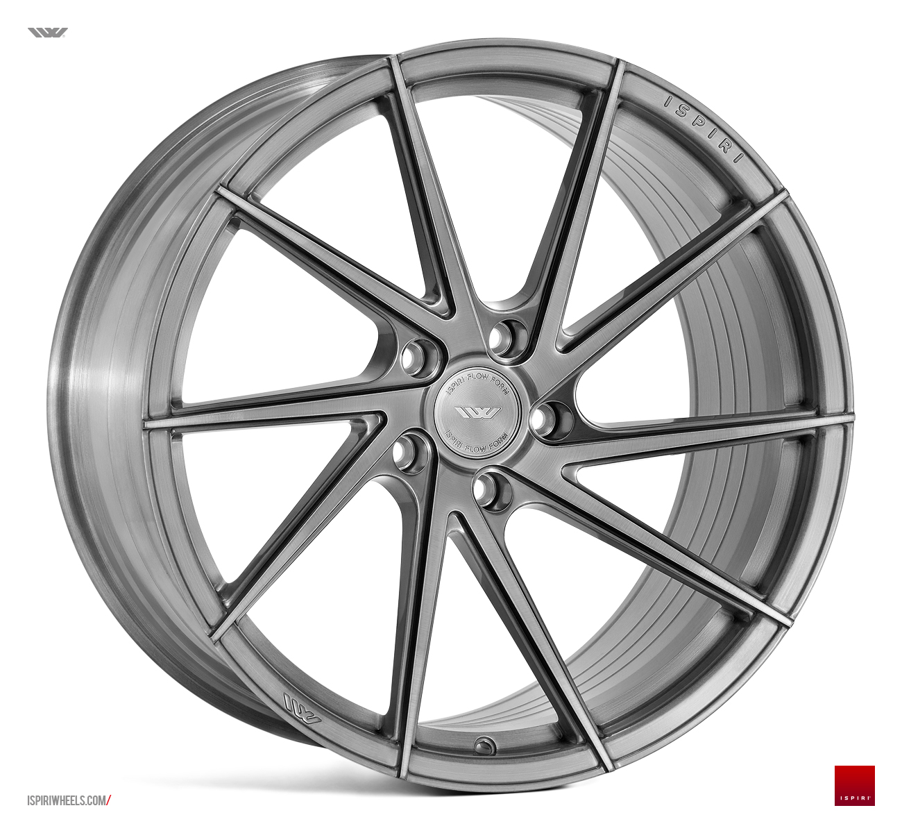 "NEW 20"" ISPIRI FFR1D MULTI-SPOKE DIRECTIONAL ALLOYS IN FULL BRUSHED CARBON TITANIUM, DEEPER CONCAVE 10.5"" REARS 5x120"