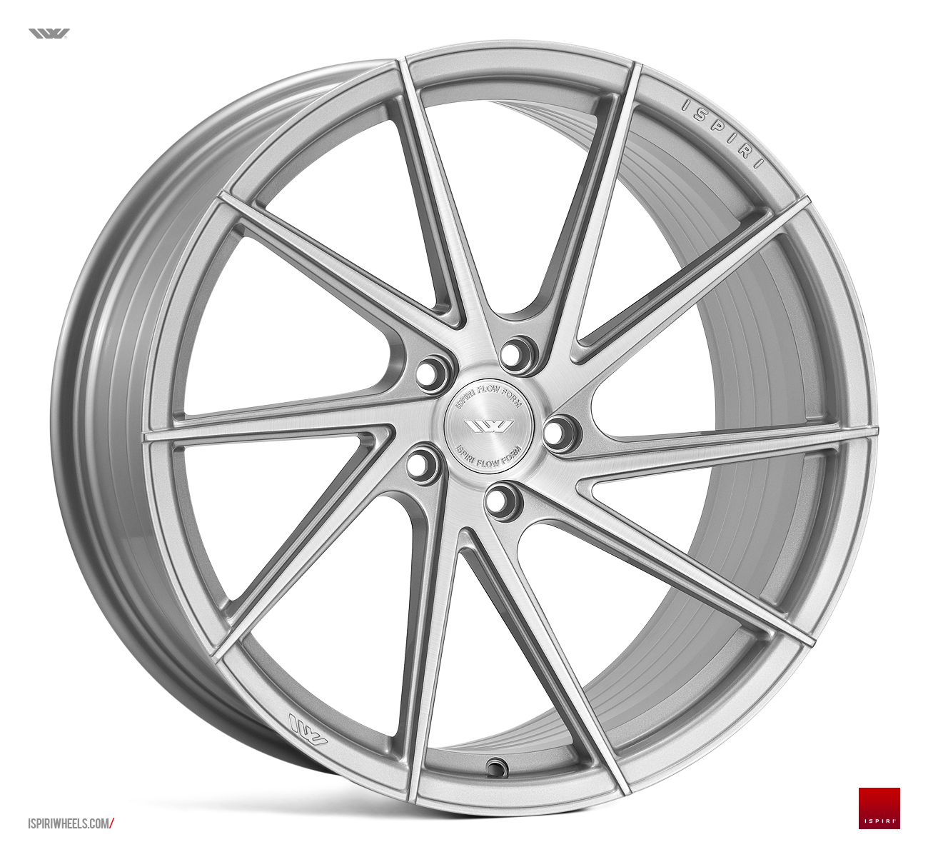 "NEW 20"" ISPIRI FFR1D MULTI-SPOKE DIRECTIONAL ALLOY WHEELS IN SILVER WITH BRUSHED POLISH FACE, DEEPER CONCAVE 10.5"" REARS 5x120"