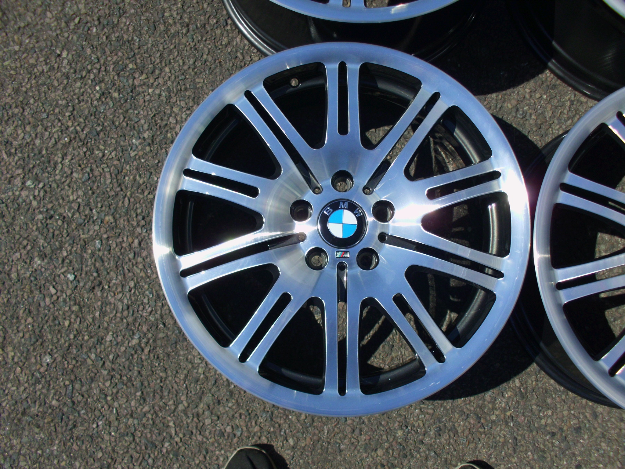 "USED 19"" GENUINE BMW STYLE 67M E46 M3 POLISHED ALLOY WHEELS,WIDE REAR,FULLY REFURBED"