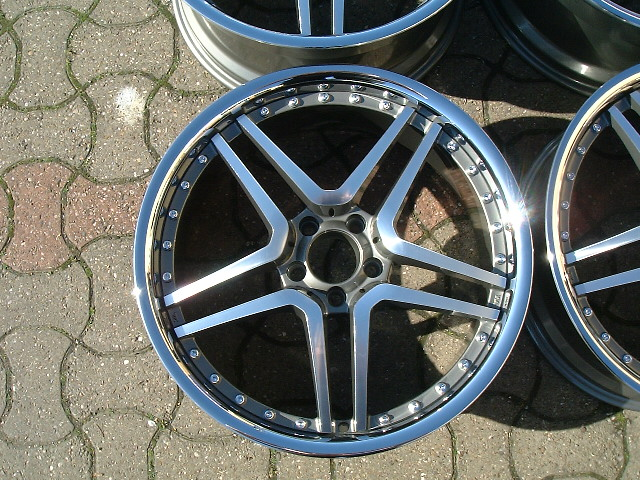 "NEW 19"" AM TWIN DEEP ALLOY WHEELS IN GUNMETAL WITH DEEP INOX DISH AND BIG 9.5"" REAR ET35 or 45/38 or 48"