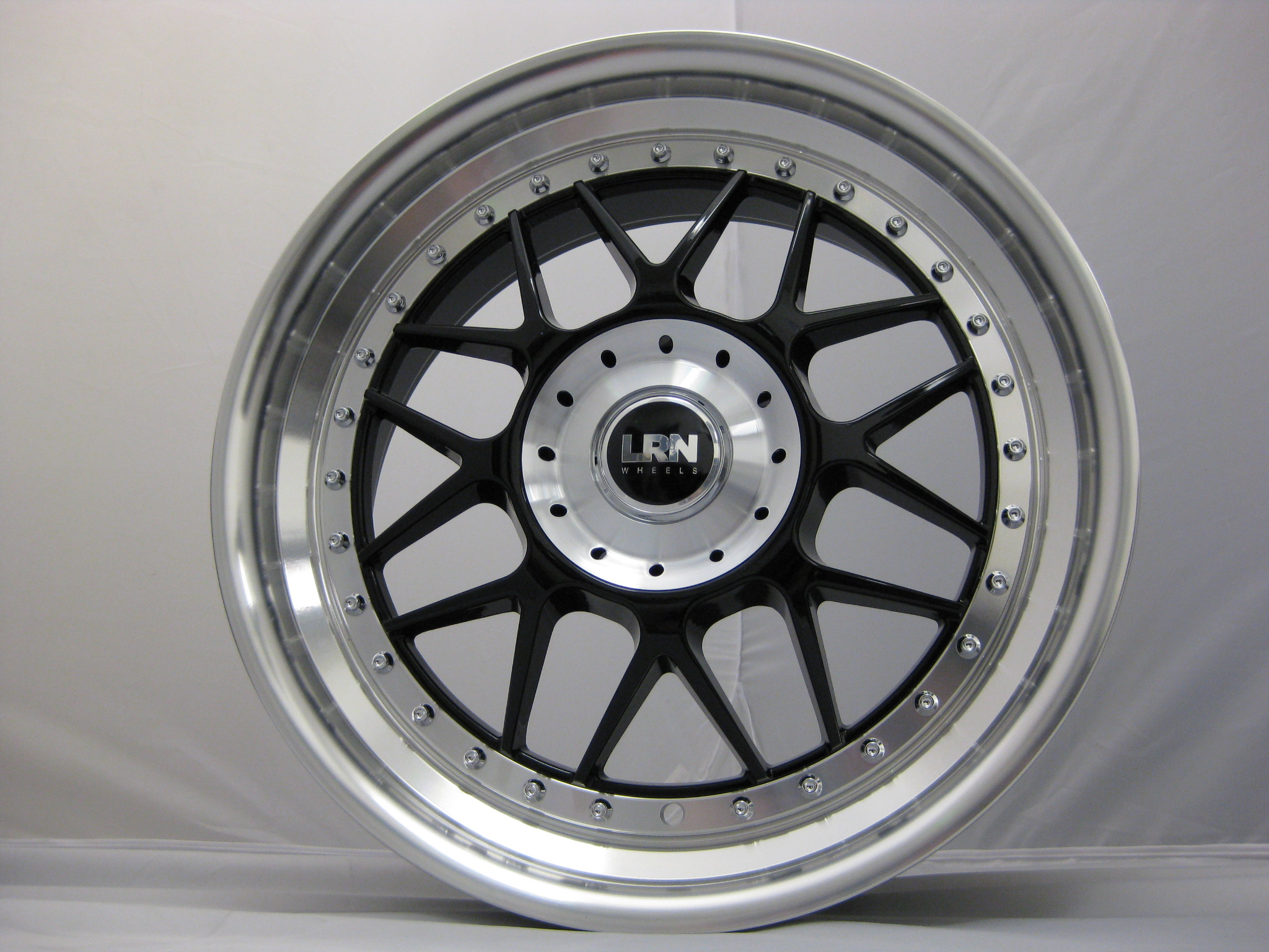 "NEW 18"" LRN BLITZ ALLOY WHEELS IN BLACK WITH POLISHED STEPPED DISH, DEEPER 9"" REAR"