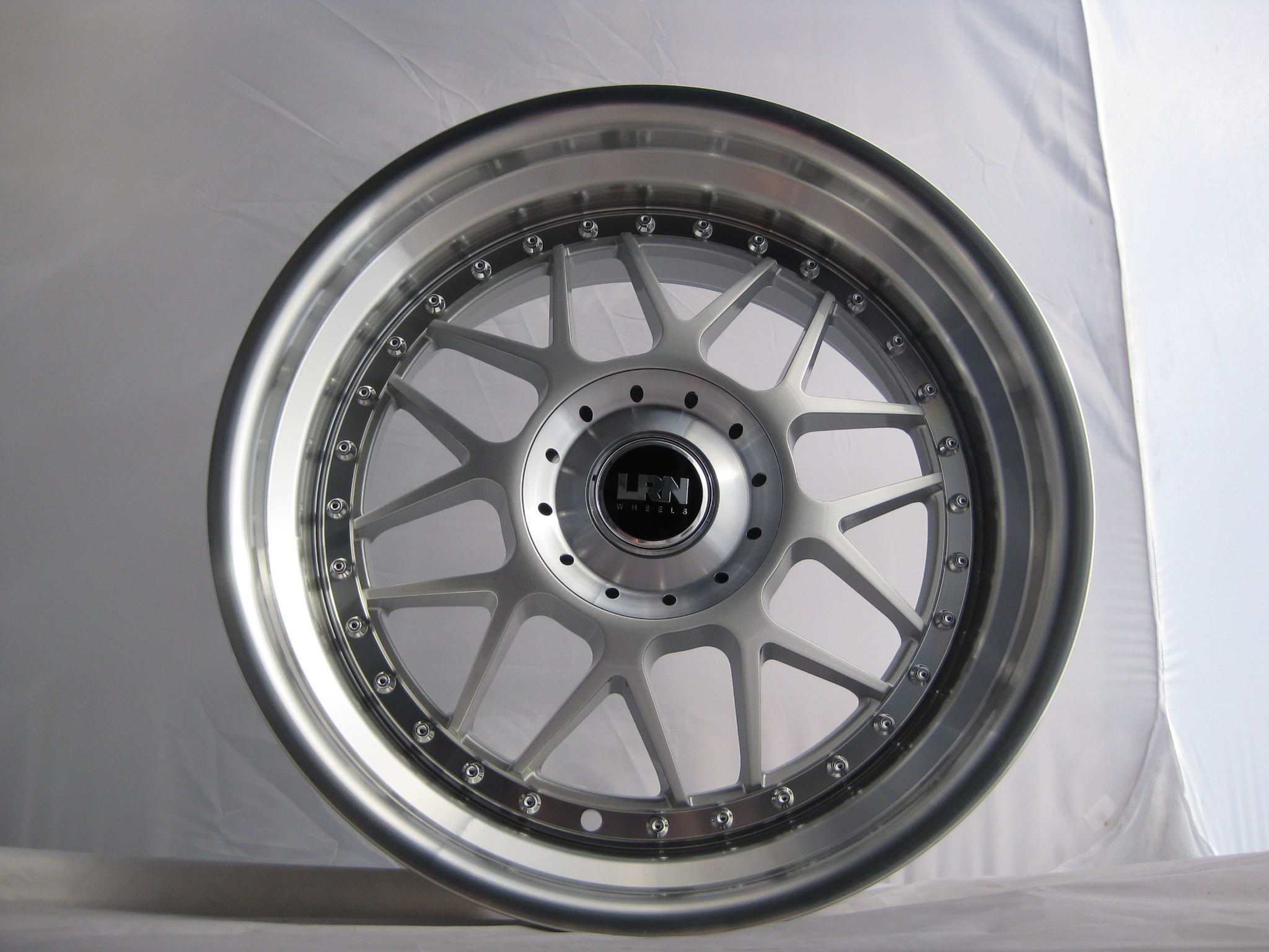 "NEW 18"" LRN BLITZ ALLOY WHEELS IN SILVER WITH POLISHED STEPPED DISH, DEEPER 9"" REAR"