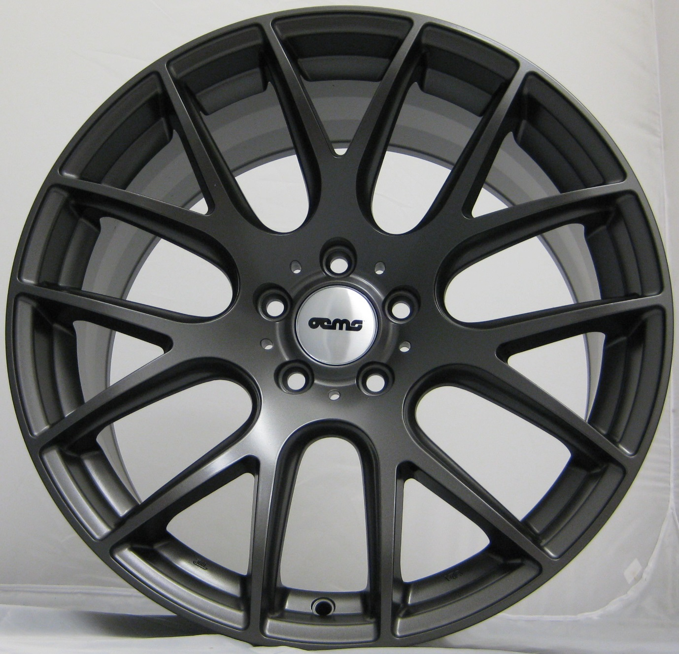 "NEW 18"" OEMS 111 ALLOY WHEELS IN GLOSS GUNMETAL WITH WIDER 9.5"" REARS"
