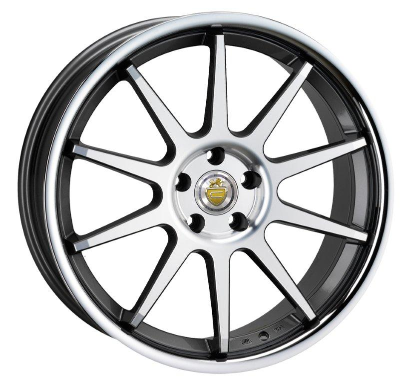 "NEW 20"" CADES IXION ALLOY WHEELS IN GUNMETAL WITH POLISHED SPOKES AND S/S DISH, BIG CONCAVE 10.5"" REAR et32/40"