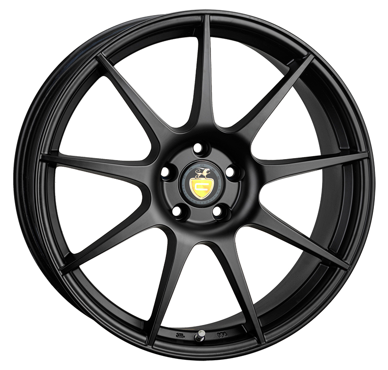 "NEW 18"" CADES TORA ALLOY WHEELS IN MATT BLACK WITH WIDER 9"" REARS"