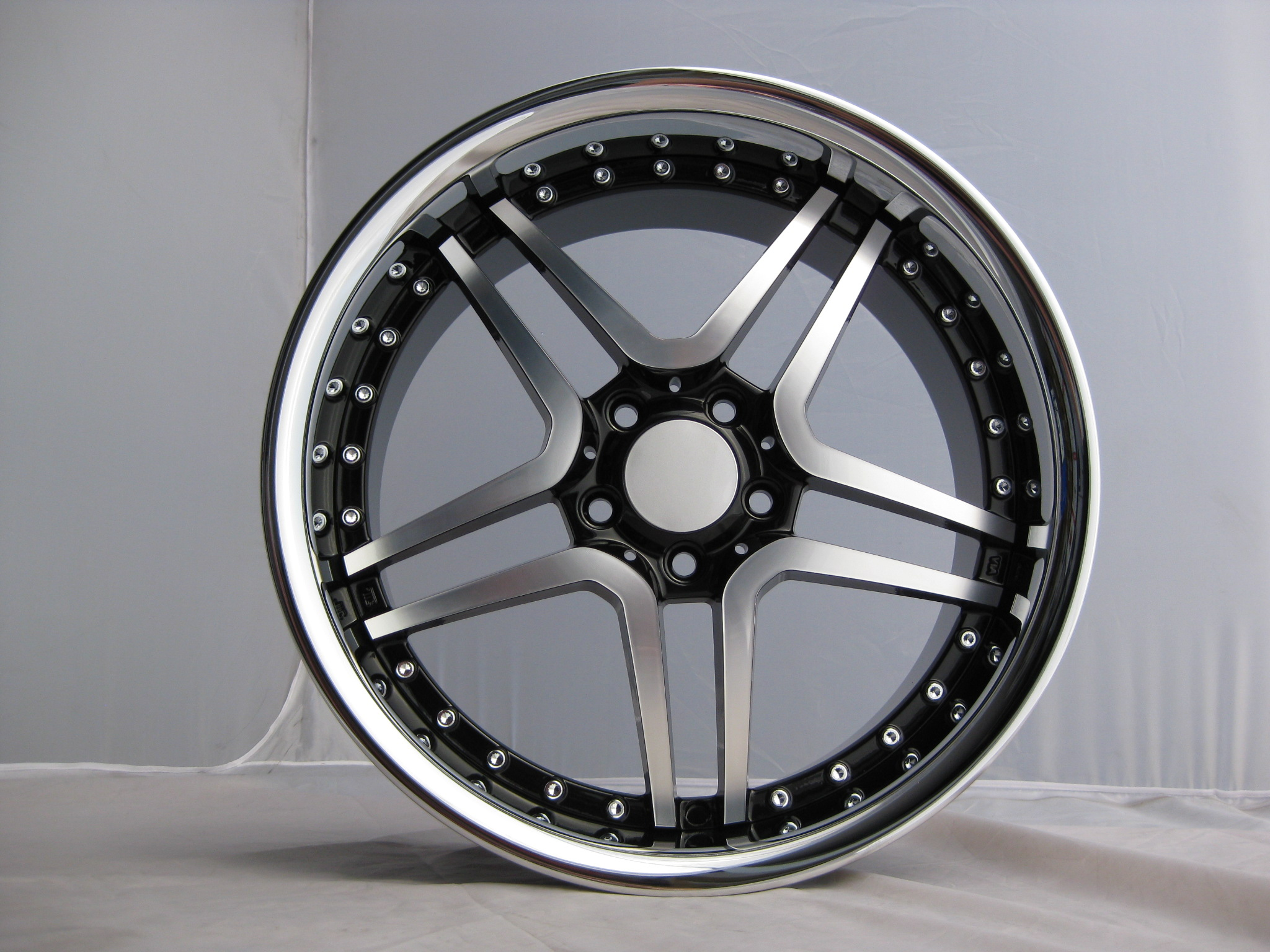 "NEW 19"" AM TWIN DEEP ALLOYS IN BLACK WITH DEEP INOX DISH AND BIG 9.5"" REAR et35 OR ET45 FRONT/ET38 OR 48 REAR"