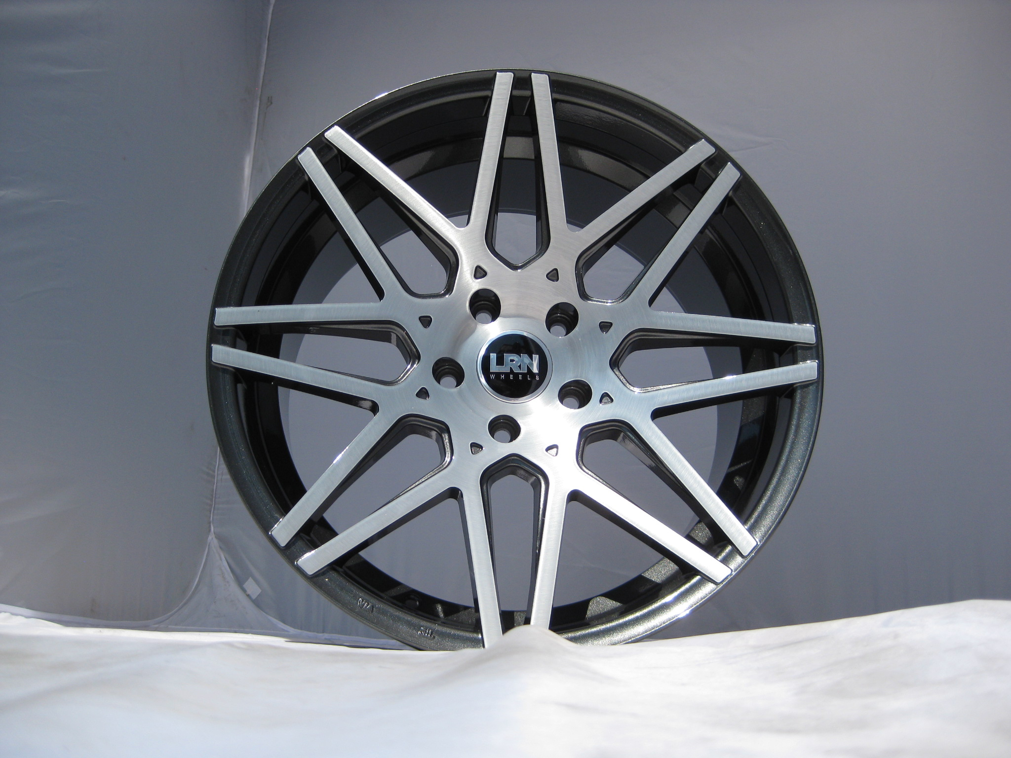 "NEW 19"" LRN BLADE ALLOYS IN METALLIC GUNMETAL WITH BRUSHED FACE, MASSIVE 10.5"" WIDE REARS WITH DEEPER CONCAVE"