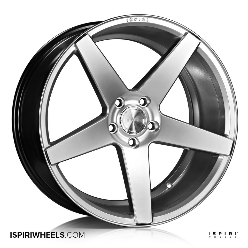 "NEW 20"" ISPIRI ISR5 ALLOY WHEELS IN DIAMOND SILVER WITH DEEPER CONCAVE 10"" REAR"