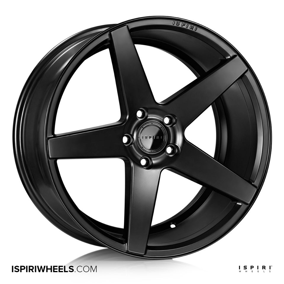 "NEW 20"" ISPIRI ISR5 ALLOY WHEELS IN MATT BLACK WITH DEEPER CONCAVE 10"" REARS"