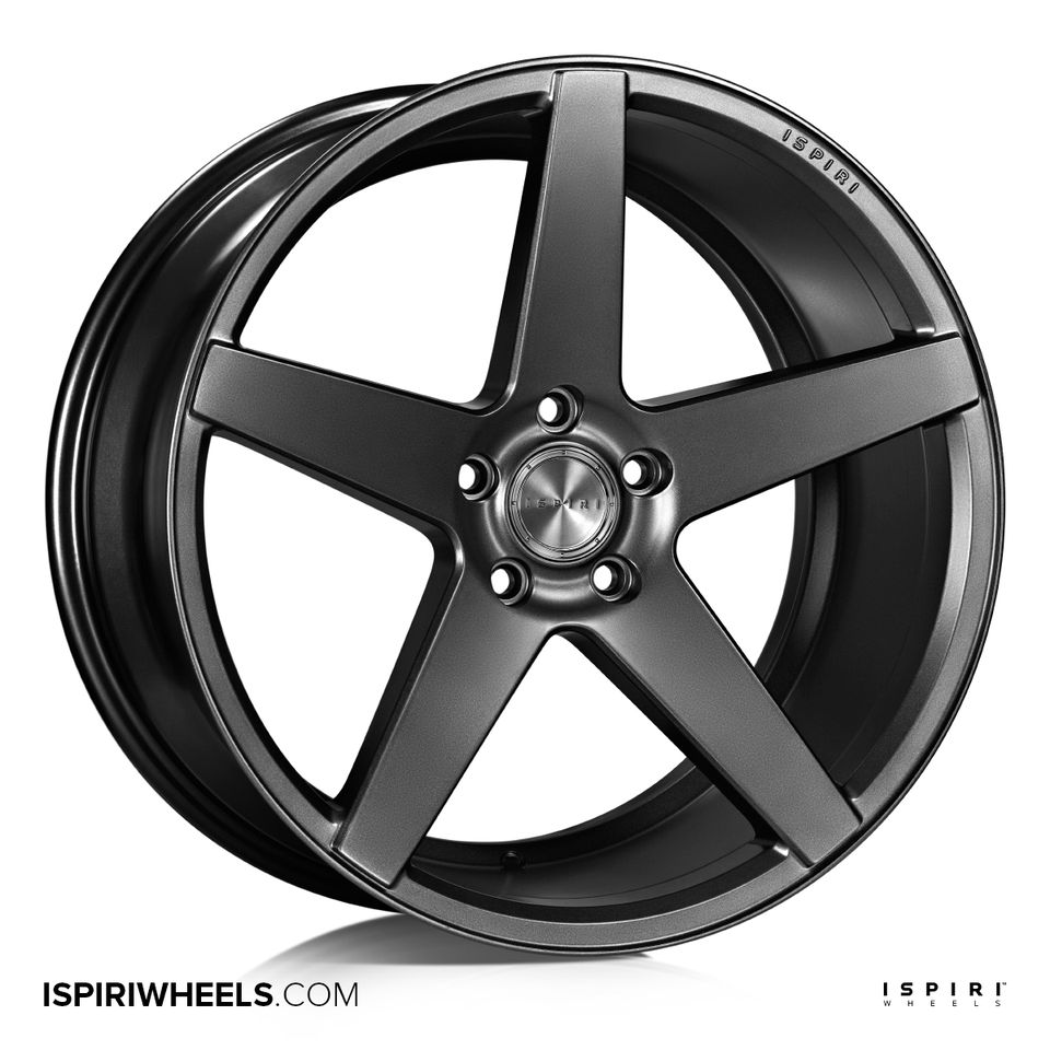 "NEW 20"" ISPIRI ISR5 ALLOY WHEELS IN MATT GRAPHITE WITH DEEPER CONCAVE 10"" REARS"