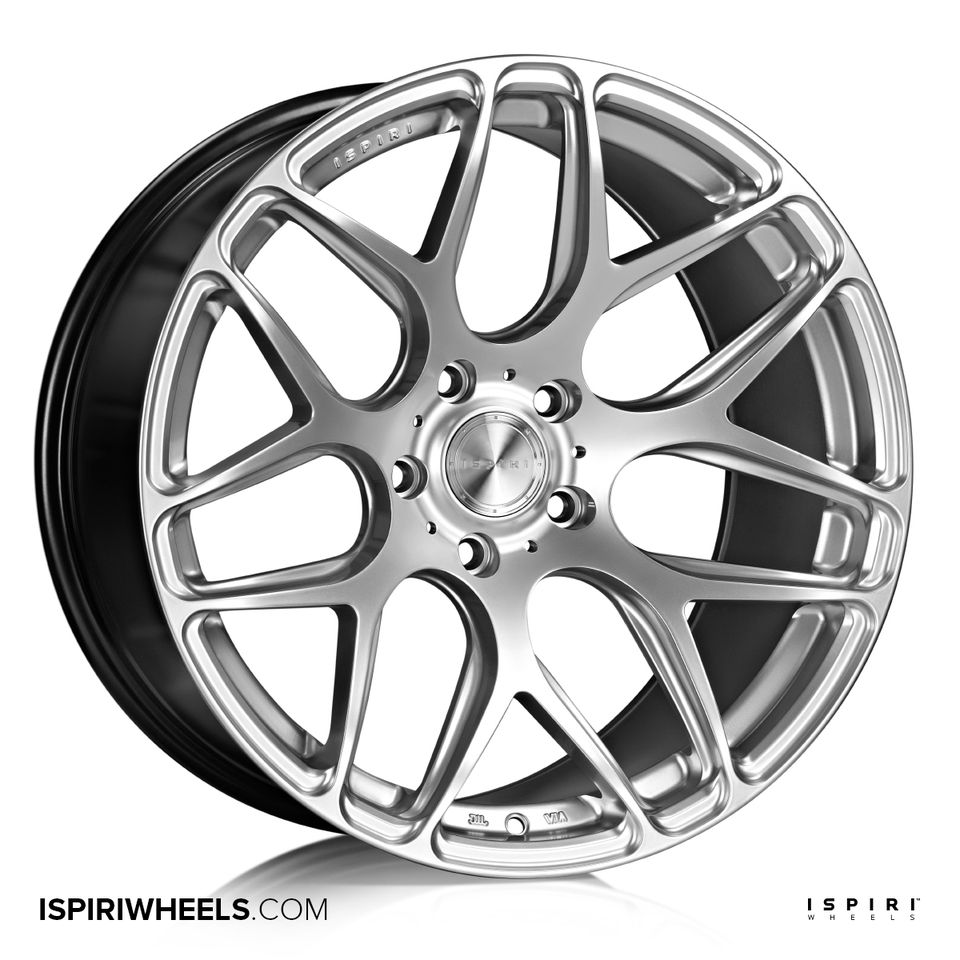 "NEW 20"" ISPIRI ISR10 IN DIAMOND SILVER, VERY DEEP CONCAVE 10"" REARS"