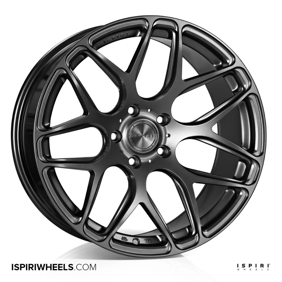 "NEW 20"" ISPIRI ISR10 ALLOY WHEELS IN MATT GRAPHITE, VERY DEEP CONCAVE 10"" REARS"