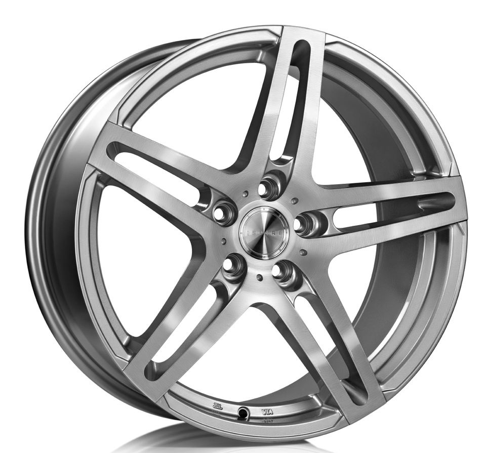 "NEW 20"" ISPIRI ISR12 IN SILVER/BRUSHED POLISH WITH DEEPER CONCAVE 11"" REARS et45/52"