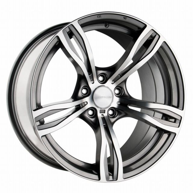 "NEW 20"" AVANT GARDE M355 FIVE SPOKE ALLOYS IN GUNMETAL/POL WITH GUNMETAL INSERTS DEEPER CONCAVE 10.5"" REAR"