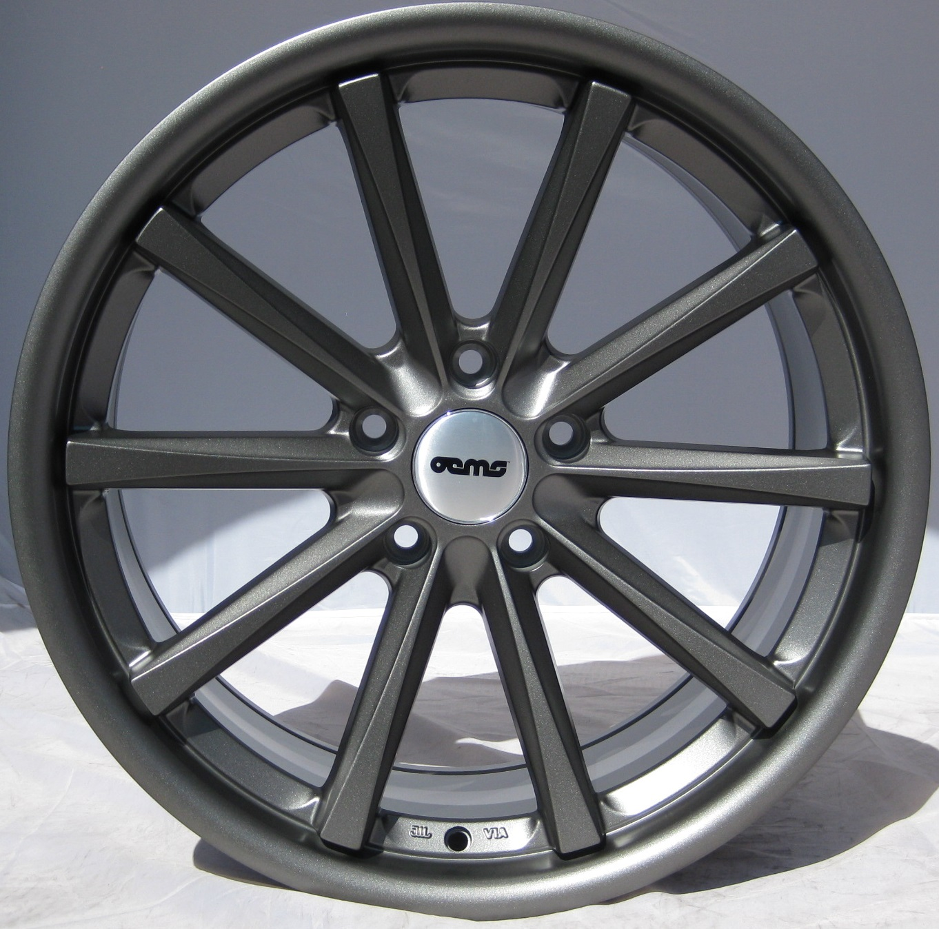 "NEW 19"" OEMS 110 CONCAVED ALLOYS IN MATT GUNMETAL, WIDER 9.5"" REAR"