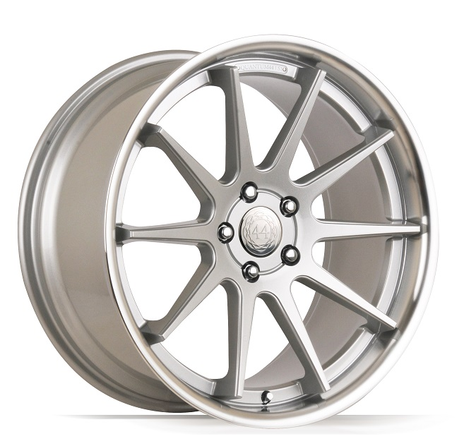 "NEW 19"" QUANTUM44 S1 ALLOY WHEELS IN SILVER/POL, DEEPER CONCAVE 9.5"" REARS"