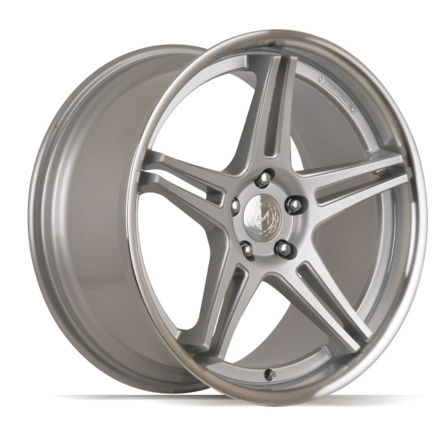 "NEW 19"" QUANTUM44 S2 ALLOY WHEELS IN SILVER/POL, DEEPER CONCAVE 9.5"" REARS"