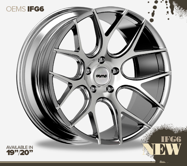 "NEW 20"" OEMS FS6 Y SPOKE CONCAVE ALLOYS IN SILVER WITH POLISHED FACE, WIDER 10"" REAR ET38/40"