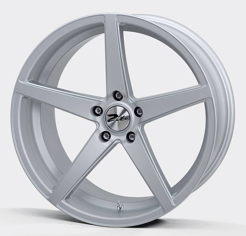 "NEW 20"" ZITO CORSICA ALLOYS IN MATT SILVER, BIG CONCAVE 10"" REAR"
