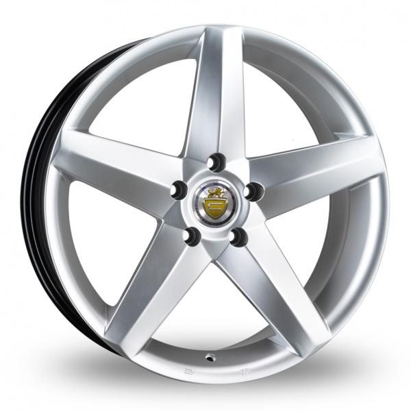 "NEW 20"" CADES TITAN ALLOYS IN HYPER SILVER WITH 10"" EXTRA DEEP CONCAVE REARS"
