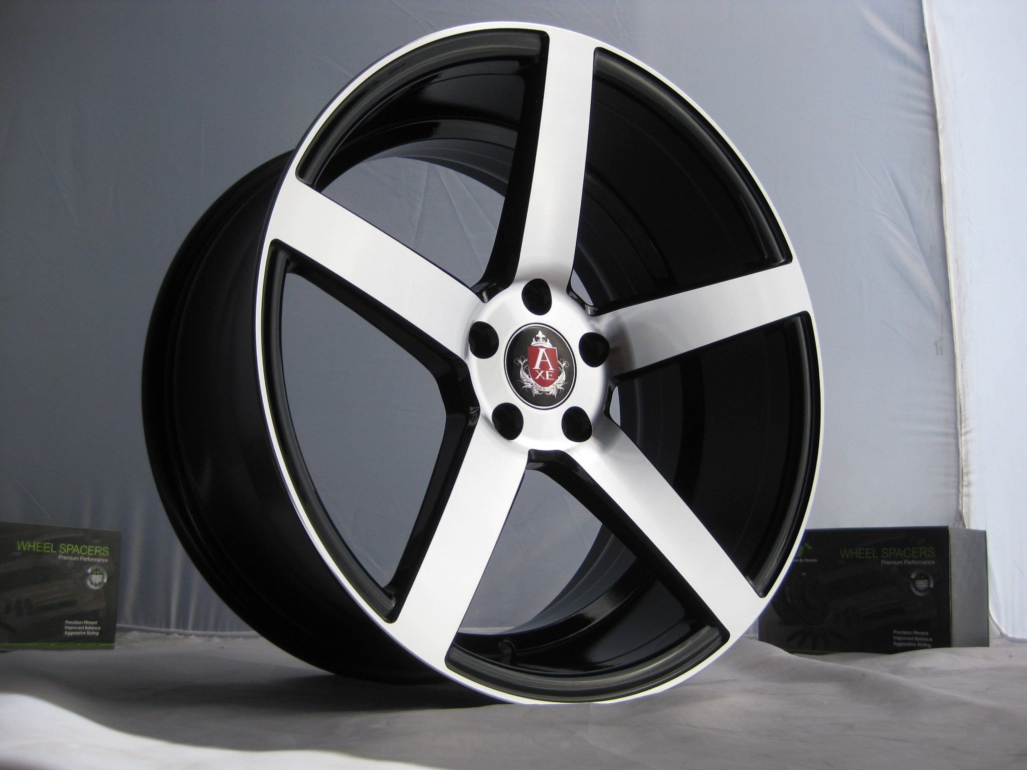 New 18 Quot Axe Ex18 Deep Concave Alloys In Gloss Black With