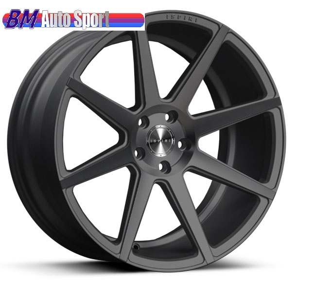 "NEW 20"" ISPIRI ISR8 IN SATIN GUNMETAL WITH DEEPER CONCAVE 10"" or 10.5"" REARS et45 or et32 / et45 or et35"