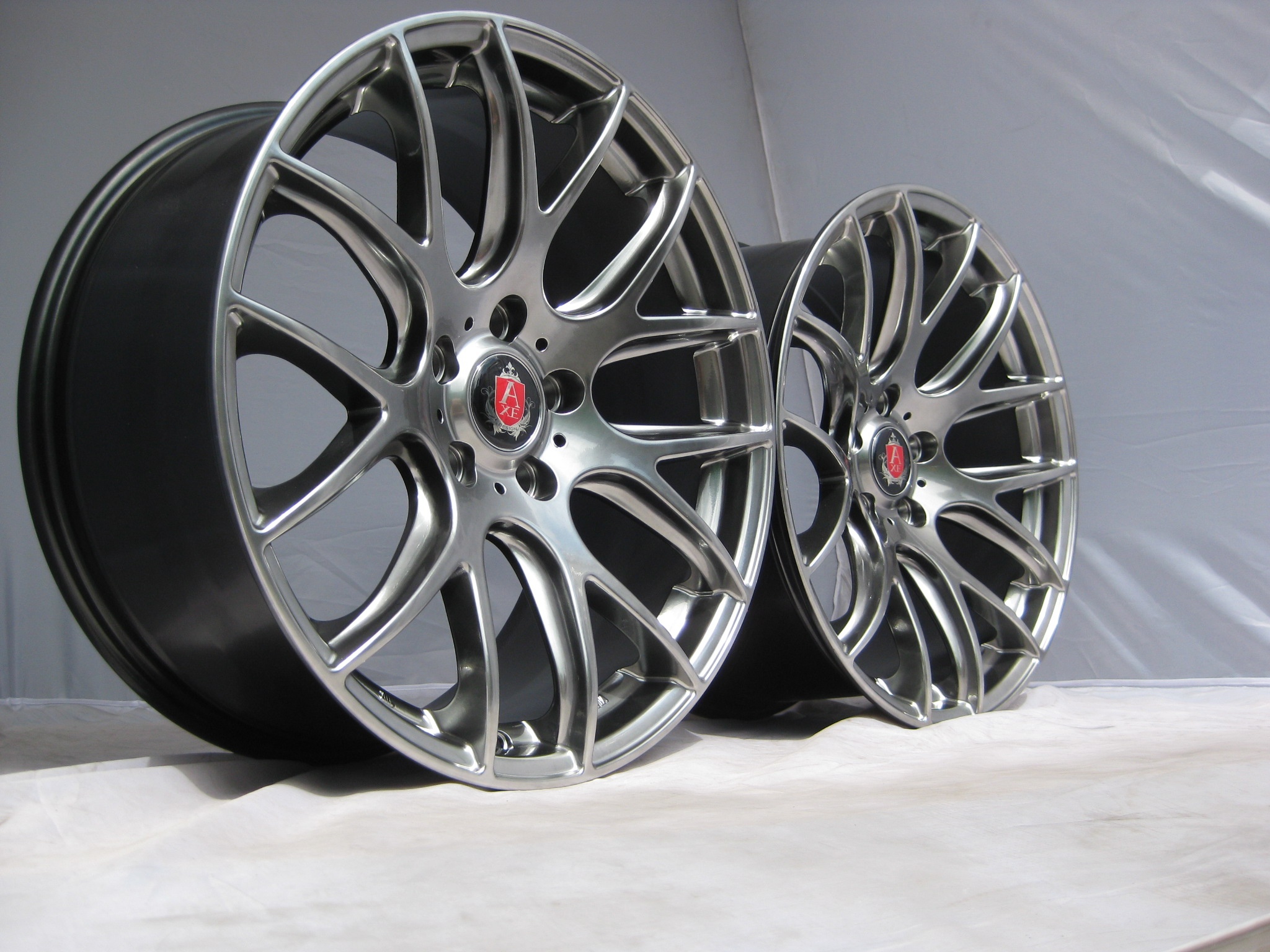 New 19 Quot Axe Cs Lite Alloys In Hyper Black With Very Deep Concave 9 5 Quot Rears Bm Autosport