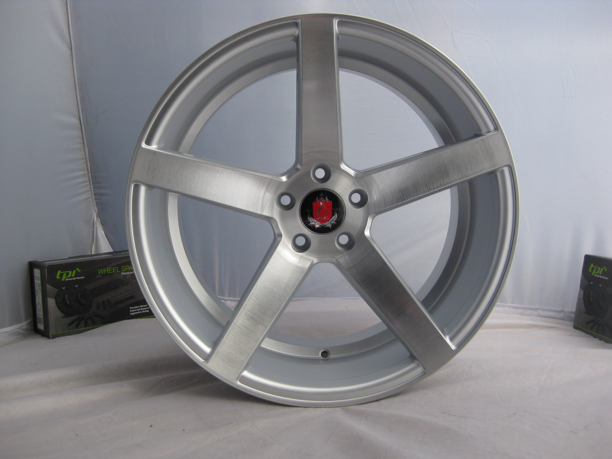 "NEW 19"" AXE EX18 DEEP CONCAVE ALLOY WHEELS IN SILVER/BRUSHED  WITH LARGE DEEP DISH, WIDER REAR et44/40"