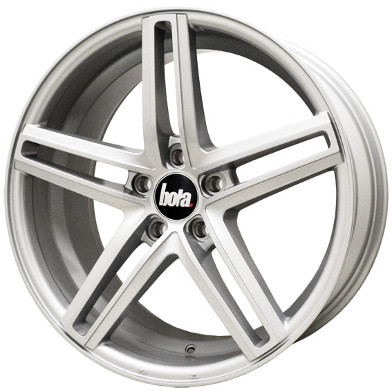 "NEW 19"" BOLA B3 CONCAVED ALLOYS IN SILVER, WIDER 9.5"" REAR 42/45"