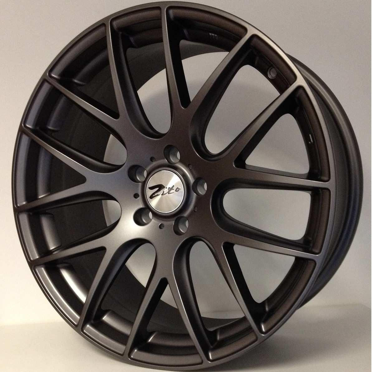 "NEW 19"" ZITO 935 CSL GTS ALLOY WHEELS IN MATT GUNMETAL, DEEPER CONCAVE 9.5""REARS"