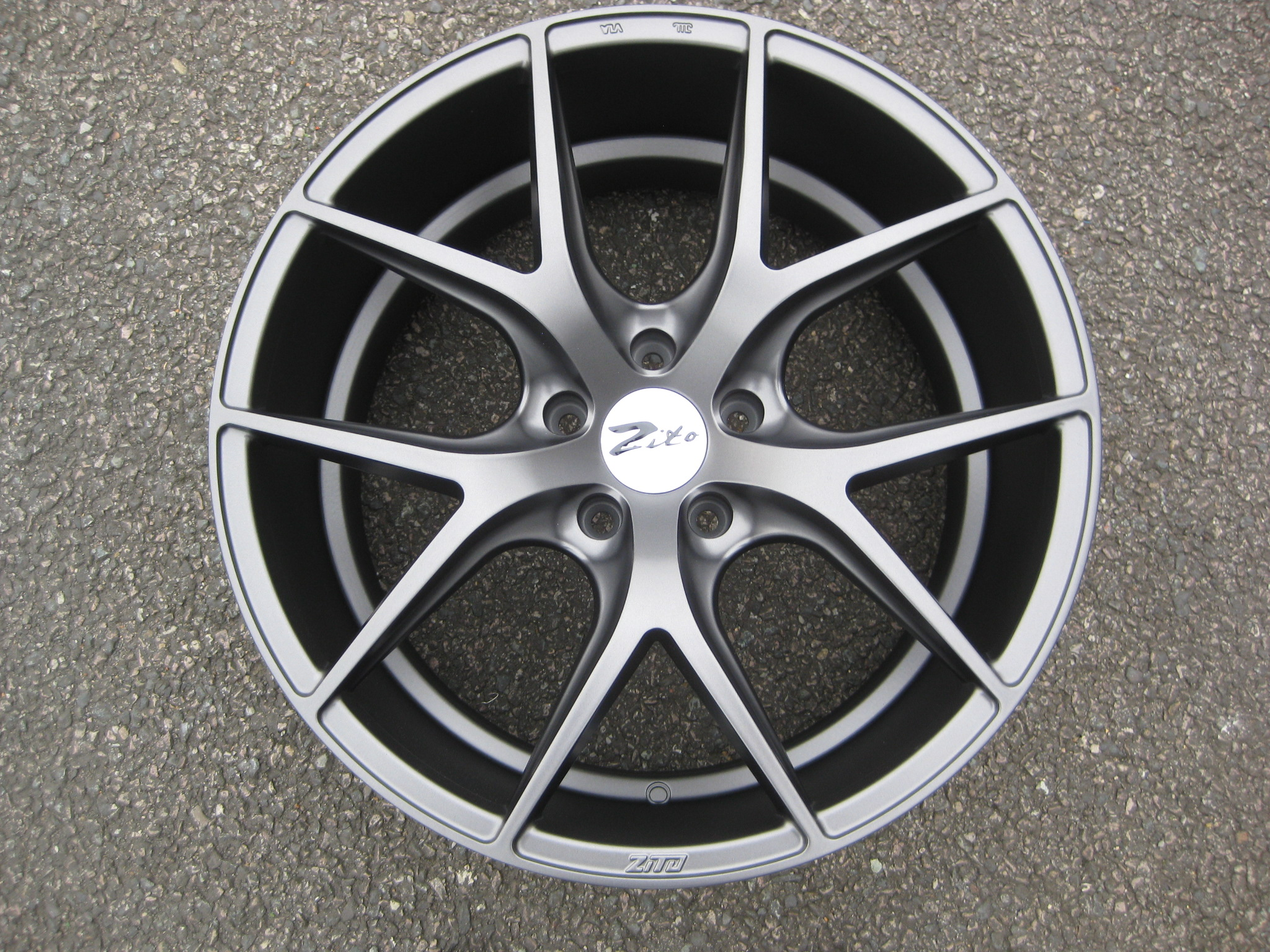 "NEW 20"" ZITO ZS05 ALLOY WHEELS IN MATT GUNMETAL WITH DEEP CONCAVE 10"" REAR"