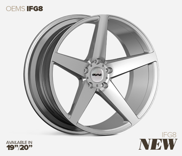 New 20 Quot Oems Ifg8 5 Spoke Concave Alloys In Silver With