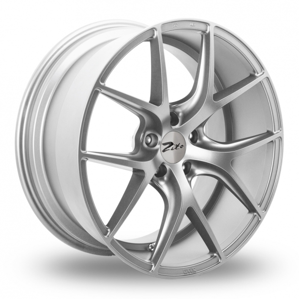 "NEW 20"" ZITO ZS05 ALLOY WHEELS IN MATT SILVER WITH DEEPER CONCAVE 11"" REAR"