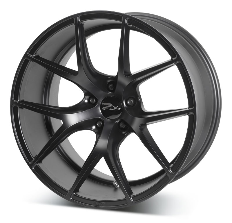 "NEW 20"" ZITO ZS05 ALLOY WHEELS IN MATT BLACK"