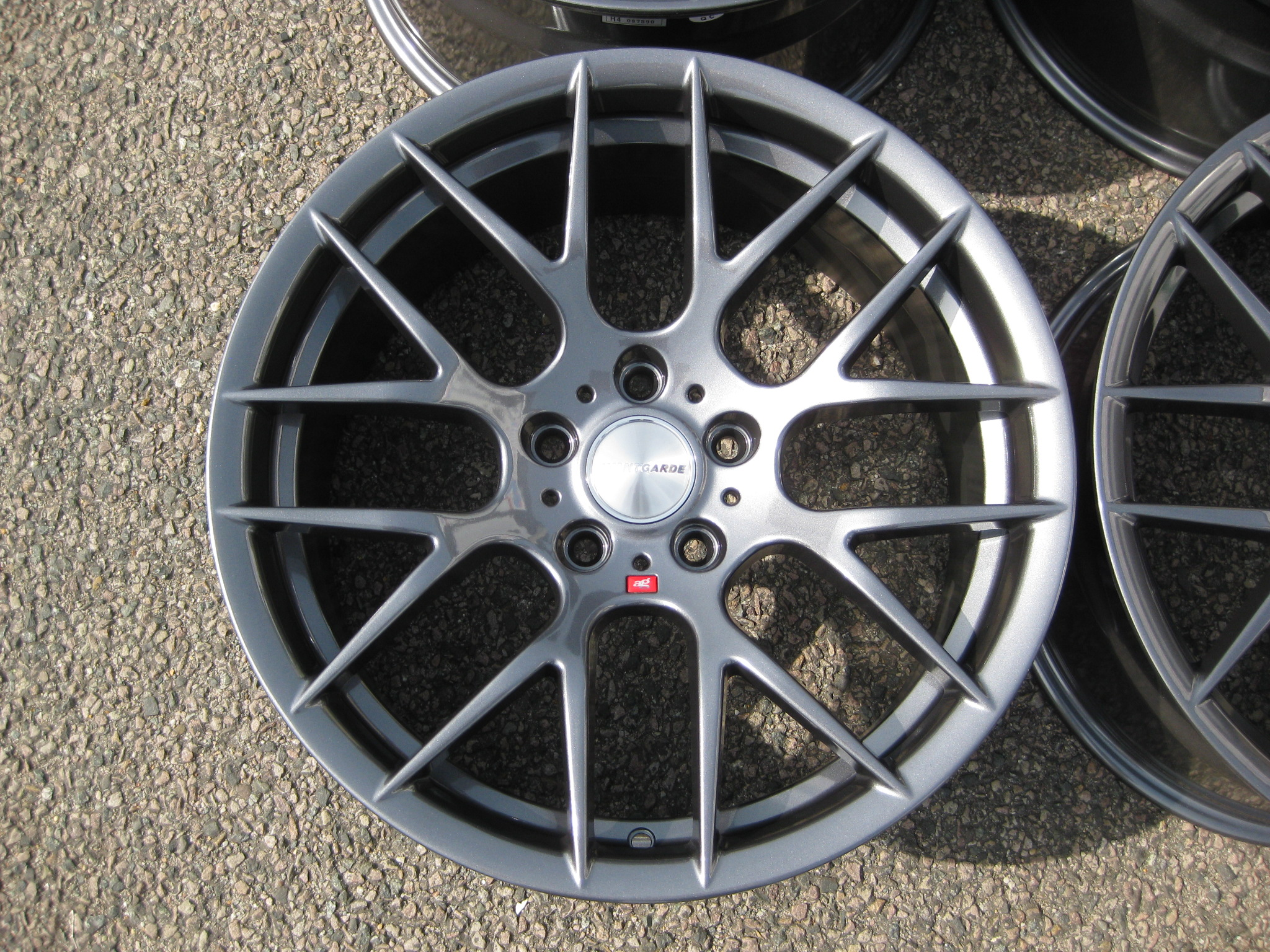 "NEW 18"" AVANT GARDE M359 Y SPOKE ALLOY WHEELS IN GUNMETAL WITH DEEPER CONCAVE 9.5"" REAR"