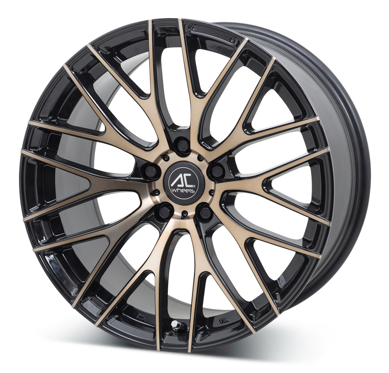 New 19 Quot Ac Syclone Alloy Wheels In Black With Bronze