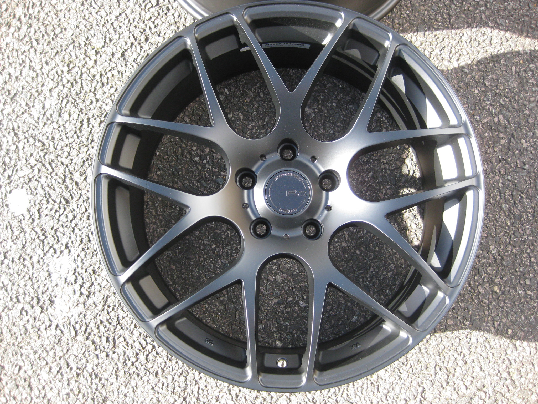 "NEW 18"" FOX MS007 ALLOY WHEELS IN MATT BLACK WITH WIDER 8.5"" REARS"