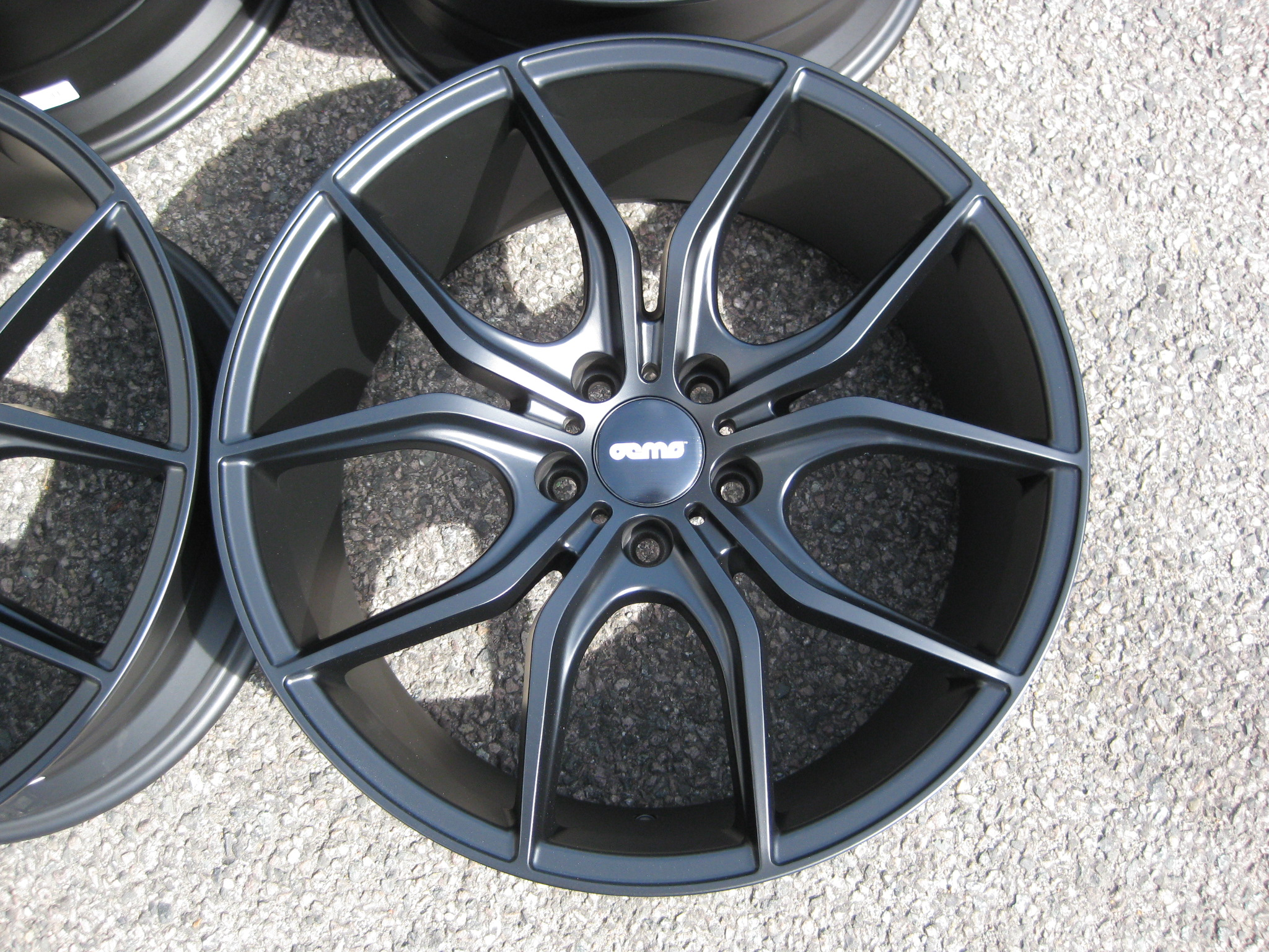 "NEW 19"" OEMS FS17 CONCAVED ALLOY WHEELS IN MATT BLACK, WIDER 9.5"" REAR"